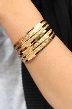 A personal favorite from my Etsy shop https://www.etsy.com/listing/260110730/18k-gold-plated-bracelets-gold-bracelet