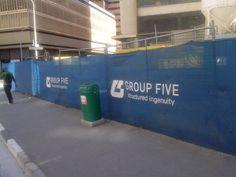 Group Five Construction Branding on Bree Street, Cape Town Construction Branding, Cape Town, Group, Printed, Street, Image, Prints, Walkway