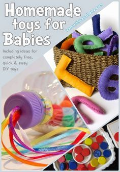 A great list of toys you can make for free for baby and toddler! I'm going to try a posting game. Learn with Play at Home: 8 Homemade toys for Babies