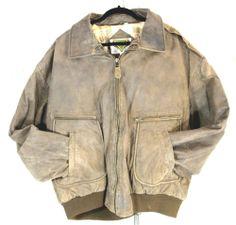 PHASE 2 Nubuck Leather Flight Bomber Jacket .  Rugged outback style! enjoy!