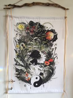 Healing Herbs wall hanging scroll by NomeartStore on Etsy https://www.etsy.com/uk/listing/593060842/healing-herbs-wall-hanging-scroll