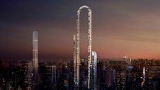 """An architecture firm proposed a building they're calling """"the Big Bend,"""" which would stretch 4,000 feet long and curve over Billionares' Row—if, of course, it ever happened."""