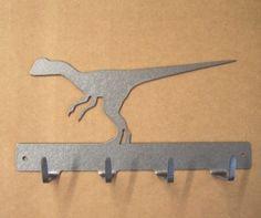 Raptor Dinosaur Keyrack ($16) - Gavin could hang his hats from here.
