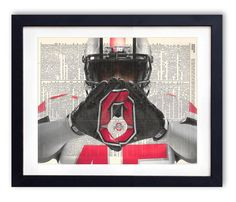 OSU Player Ohio State Buckeyes Dictionary Art by RetroBookArt, $6.99