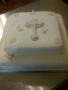 simple baptism cake :)