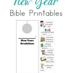 Free New Years Bible Printables
