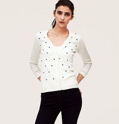 Clover Cotton Modal V-Neck Cardigan
