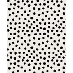 Preppy brushstroke free polka dots black and white spots dots... ❤ liked on…