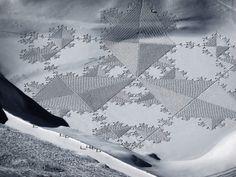 crossconnectmag:  Magnificent Geometric Snow Art by Simon...