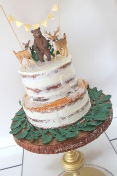 Afbeeldingsresultaat voor 1st year birthday cake animals naked