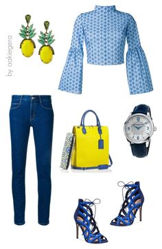 """""""Blue and yellow"""" by aakiegera ❤ liked on Polyvore featuring Mark/Giusti, Daizy Shely, STELLA McCARTNEY, Frédérique Constant, ALDO and Banana Republic"""