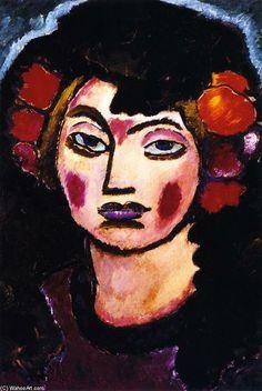 'Spanish Girl' - (1912) - Alexei von Jawlensky.