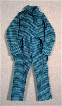 BOY'S SUIT OF CHECKED HOMESPUN COTTON  American, ca. 1800-10