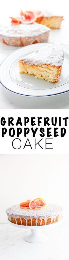 Grapefruit Poppyseed Cake via @thebrooklyncook