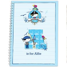 Personalised Kid's Notebook - Little Pirate  from Personalised Gifts Shop - ONLY £5.99
