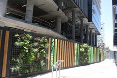 Collins Square office development in Docklands, Melbourne. How about developers use green hoardings to promote their environmental credentials as part of a marketing campaign for a sustainable building?