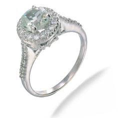Green Amnethyst Ring, Sterling Silver