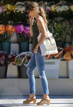 Jeans, tank and those shoes!