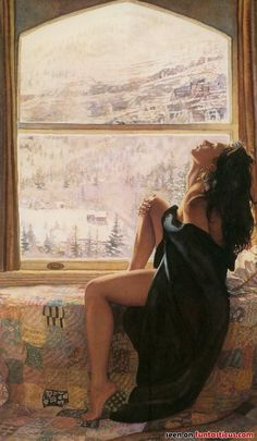 Steve Hanks is recognized as one of the best watercolor artists working today. The detail, color, and realism of Steve Hanks' paintings are unheard of in this difficult Double Exposition, Realistic Paintings, Painted Ladies, Watercolor Artists, Watercolour Art, Woman Painting, Beautiful Paintings, Romantic Paintings, Oeuvre D'art