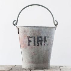Vintage Fire Bucket | The Other Duckling