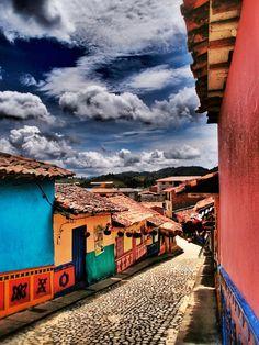 """Calle de los Colores"" ~ Guatape, Colombia © 2012 Skip Hunt"