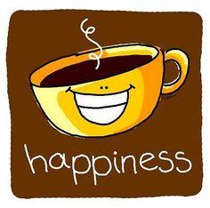 Café e felicidade. É tudo o que a gente quer.