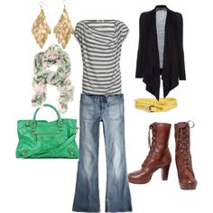 mixing stripes with floral!