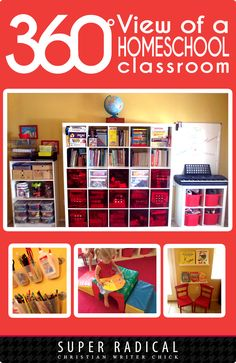 360 View of a Homeschool Room - Lots of Photos and a 5-minute YouTube Video Included. (And the #1 Secret to Making Your Homeschool Room Work For You!)