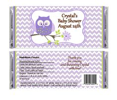Personalized Lavender OWl Baby Girl by lovelypapercreations
