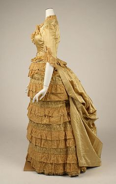 Dress 1880, French, Made of silk