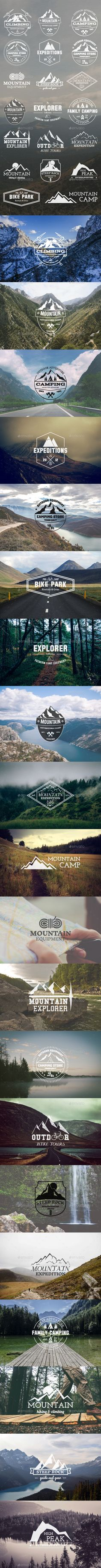 20 Adventure Badges & Logo - Badges & Stickers Web Elements
