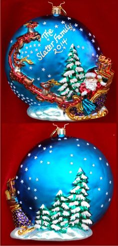 Silent Night -- Grandkids Asleep Sweetly in Their Beds Radko Ornament