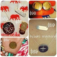 Exclysive pre-public launch Stella and dot Engravables available now! Order through your stylist Grant contact me through www.stelladot.com/nathaliedembele