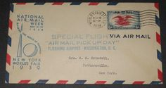 NATIONAL AIRMAIL WEEK - POSTAL COVER - 1939 NY World's Fair related