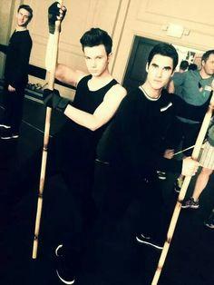 CrissColfer on set #Glee