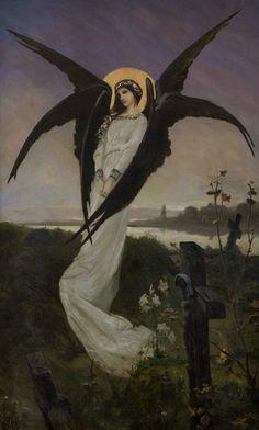 "silenceformysoul: "" Wilhelm Kotarbiński (1848-1921) - Angel in a Cemetery """