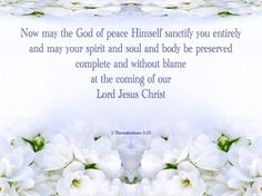 1 Thessalonians 5-23 May The God Of Peace Sanctify You Wholly gray