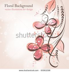 Vector Background With Flowers, Leaves, Branches. Stylized Bouquet Of Blooming Red Roses. Invitation And Greeting Card For Wedding And Holiday. Romantic Abstract Floral Illustration. - 105423971 : Shutterstock