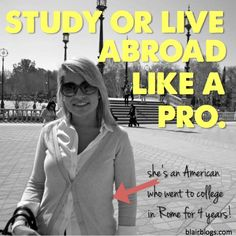These are some great tips from a girl who decided to go abroad for all of college--not just one semester! Super helpful before studying abroad but would also help anyone looking to travel, work, or live abroad!