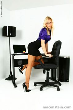 Legs chair female office heels kicked chair
