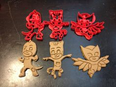 PJ Masks Cookie Cutters. Cat Boy, Gekko, and Owlette. Throw a PJ Masks Themed Birthday Party with your favorite Catboy and friends! P J Mask