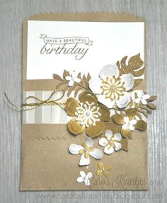 Stempelset in de hoofdrol - Botanical Blooms bundle by Stampin' Up! Stampin' Up… Cute Birthday Cards, Happy Birthday, Botanical Flowers, Botanical Gardens, Stamping Up Cards, Get Well Cards, Stampin Up, Flower Cards, Creative Cards