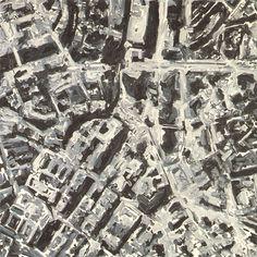 abstrahering van een stadsplattegrond...