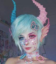 Pastel Goth Makeup, Pastel Punk, Pastel Goth Fashion, Kawaii Fashion, Harajuku Fashion, Kawaii Makeup, Cute Makeup, Makeup Art, Makeup Looks