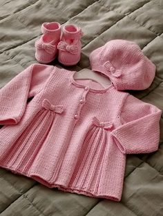Baby Knitting Patterns Ravelry: Pleats and Bows pattern by Sublime Yarns Baby Knitting Patterns, Baby Cardigan Knitting Pattern, Knitting For Kids, Baby Patterns, Free Knitting, Knitting Wool, Knit Cardigan, Knit Baby Sweaters, Knitted Baby Clothes