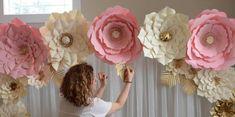 Você vai ver por aqui flor gigante de papel, para que inicie um novo período…