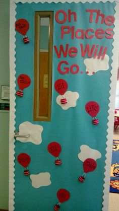 A great inside door decoration to motivate the kids about their school year!-6959