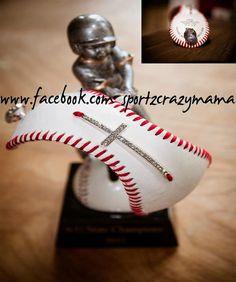 Baseball Cuff Bracelet with rhinestone sideways by SportzCrazyMama, $25.00