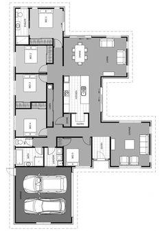 backyard designs – Gardening Ideas, Tips & Techniques Sims House Plans, Best House Plans, Dream House Plans, House Floor Plans, Courtyard House Plans, Kitchen Floor Plans, House Construction Plan, Floor Plan Layout, Bedroom Floor Plans