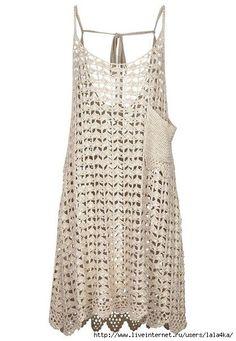 Inspirações de Croche com Any Lucy: Vestido ou Túnica                                                                                                                                                     Mais